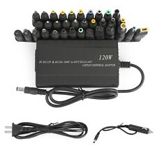 120W Car Home 34 Tip Power Supply Adapter Charger for Laptop Notebook Us Plug