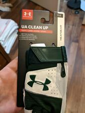 New - UNDER ARMOUR UA CLEAN UP -  Baseball Gloves - White/Black YOUTH YLG