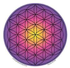 Mandala Arts Window Sticker Single Sided: Flower of Life Purple Pink 11.7cm