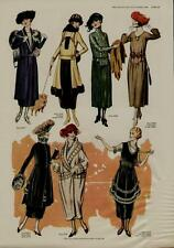 1920 WOMANS FASHION PAGE / SOPHISTICATED COATS AND DRESSES......