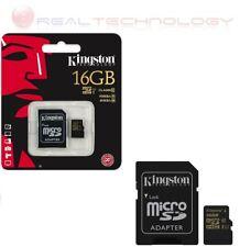 MICROSD KINGSTON 16GB CLASSE 10 SDHC 45MB/S CON ADATTATORE (SDCA10/16GB)