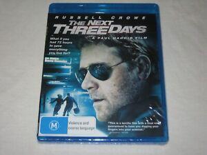 The Next Three Days - Russell Crowe - Brand New & Sealed - Region B - Blu Ray