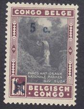 Belgian Congo 1941 - 5c on 1F 50c Black Maroon - SG242 - Mint Hinged (E17C)