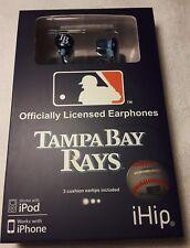 New MLB Baseball Tampa Bay Rays IHIP Ear buds Earphones