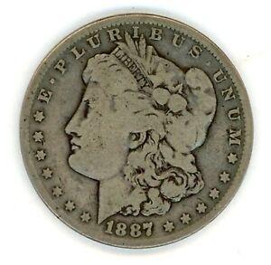 1887- P MORGAN DOLLAR - FAIR Condition