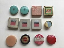Lot 12 Vintage Rouge Compacts And Boxes Of Replacement Rouge