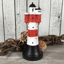Deko Modell Leuchtturm Roter Sand mit LED Blinklicht 21cm maritime Dekoration
