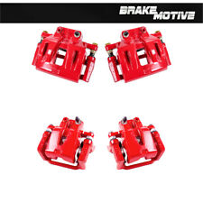 Front + Rear Red Powder Coated Brake Calipers For Dodge Charger Challenger 300