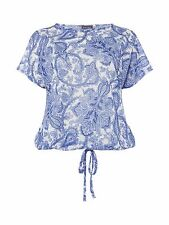Phase Eight Asha Paisley Top Blue Size UK 16 rrp £49 DH078 OO 07