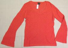 NEW $59 ~ TALBOTS ~ Women's Orange Cotton Knit Sweater size L w/ FREE SHIP USA