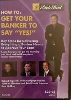 How To Get Your Banker To Say YES! Rich Dad AUDIO CD Robert Kiyosaki SEALED fr/s
