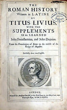 "Titus Livius (Livy) ""The Roman History"" 1686 Rare ENGLISH Translation Folio"