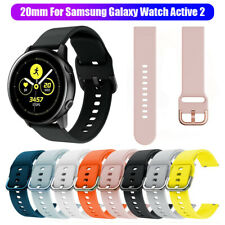 Silicone Watch Band For Samsung Galaxy Watch Active 2 42mm Replacement Strap