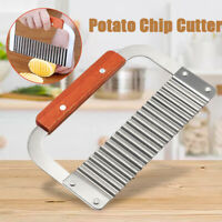 Crinkle Wavy Cutter Stainless Steel Vegetable Potato Chip French Fry Slicer