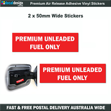 Premium Unleaded Fuel Only filler cap decals x2 stickers car boat jetski #U003