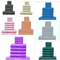 10 Piece Towels Bale Set 100% Cotton QuickDry Bathroom Facecloth Hand Bath Towel