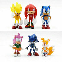 Sonic The Hedgehog Knuckles Tails  Action Figure Model Plush and Toy Cake Topper