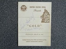 Angela Lansbury - Patricia Collinge  Signed/Autographed Collectible Gold Program