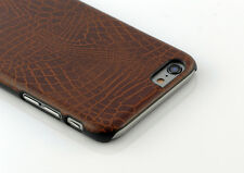IKINS case for iPhone 6 PU Leather DARK BROWN
