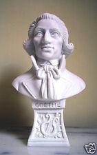 Statua Busto Goethe in polvere di Alabastro Bianco 15 cm