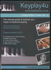 Tricks Of The Trade Vol 3 DVD Learn How To Play Organ Keyboard Intros Endings
