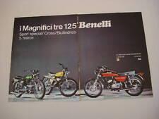 advertising Pubblicità 1973 BENELLI 125 SPORT/CROSS/2 C