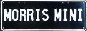 Austin Mini Morris 850 Number Plates Licence Vanity Sign license plate