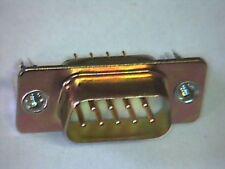 2x Sub-D-Stecker 9pol Print 180° mit Gewindeflansch vergoldete Kontakte #4