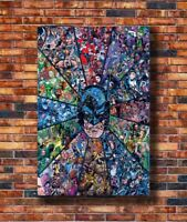 Art Batman Hot DC Superhero Comic Collage Movie 24x36in Poster - Hot Gift C309