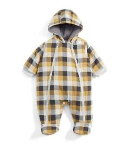 Mamas and Papas Boys Checked Pramsuit 3-6 months RRP£45 Best Price UK Seller