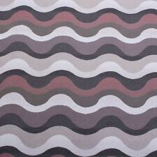 Concerto Linen Look Jacquard Wave Designer Curtain Fabric Upholstery - Ice Berry