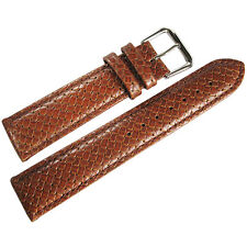 18mm Hadley-Roma MS843 Mens Tan Braided Woven Leather Watch Band Strap