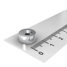 50 STÜCK 10x5 mm NEODYM SCHEIBEN MAGNET MIT 3.4mm BOHRUNG UND SENKUNG WERKSTATT