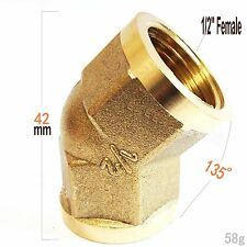"Brass Pipe Fitting NPT 1/2"" Female 45 Degree Elbow Oil Gas Fuel Water N-JAM"