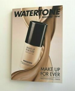 MAKE UP FOR EVER Watertone Foundation Sample Card in 4 Shades