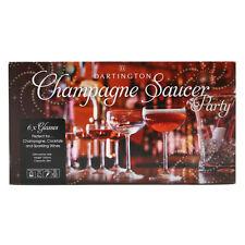 Dartington cristallo champagne PIATTINO PARTY (6 CONF.)