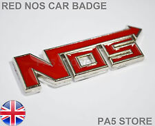 Red NOS BADGE Boot WING corpo in metallo-ossido di azoto VAUXHALL VW Ford Auto Van UK