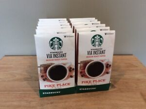 12 Boxes (96 Packets) Starbucks Via Instant Pike Place Roast Instant Coffee