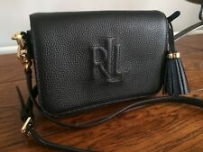 4ad63f6106b1 Ralph Lauren pebble black leather bag cross body bag handbag