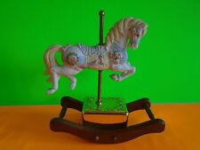 Westminster Ceramic Carousel Musical Rocking Horse Music Box EUC Ship Fast