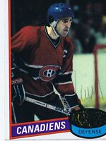 Serge Savard 1980 Topps Autograph #26 Canadiens