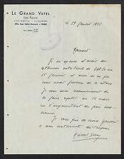 """PARIS (VIII°) RESTAURANT """"LE GRAND VATEL Les Fleurs"""" en 1935"""