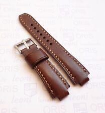 Handmade Leather Watch Strap Oris Aquis, ORIS watchband brown & beige, all size