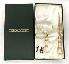 THE COUNTY SET MAGNIFYING GLASS AND LETTER OPENER SET SAC Limited BOXED - M25