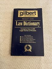 1998 Gilbert's Pocket Size Law Dictionary by Gilbert Law Summaries Staff