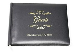 Broadman All Occasion Guest Book Black Bonded Leather-We Welcome You in the Lord