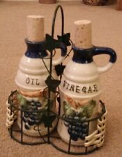 🎄Gorgeous Oil And Vinegar Bottle Set From Greece🎄