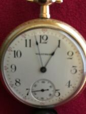 1908 Grade 610 Pocket Watch Very Nice Waltham 16 size Model