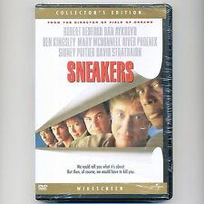 Sneakers 1992 PG-13 comedy caper movie, new DVD Redford Aykroyd Kingsley Poitier