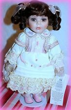 """*NEW* WILLIAM TUNG DOLL CLASSIC MELODIES COLLECTION MUSICAL 13"""" LEORA PORCELAIN"""